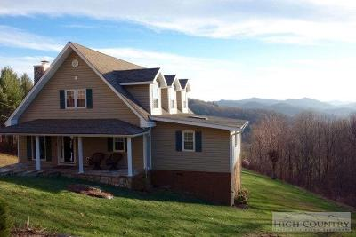 Alexander County, Ashe County, Avery County, Burke County, Caldwell County, Watauga County Single Family Home For Sale: 2778 Beech Mountain Road