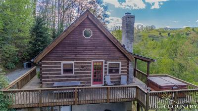 Ashe County, Avery County, Burke County, Alexander County, Caldwell County, Watauga County Single Family Home For Sale: 596 Joe Shoemaker Road