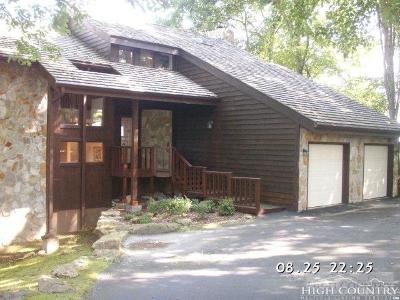 Beech Mountain Single Family Home For Sale: 218 Grassy Gap Loop Rd. Road