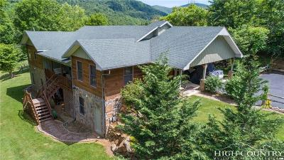 Alexander County, Ashe County, Avery County, Burke County, Caldwell County, Watauga County Single Family Home For Sale: 285 Blue Buck Road