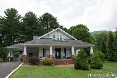 Ashe County Single Family Home For Sale: 1 North Church Avenue