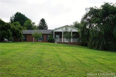Ashe County Single Family Home For Sale: 1195 Mount Jefferson