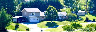 Watauga County Single Family Home For Sale: 109 Cole Drive