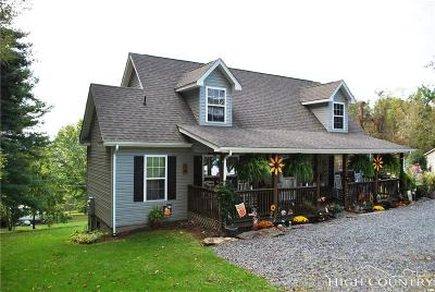 Alexander County, Burke County, Caldwell County, Ashe County, Avery County, Watauga County Single Family Home For Sale: 160 Fall Creek Road