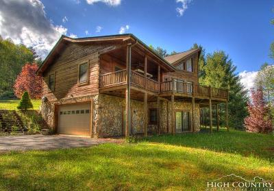 Ashe County Single Family Home For Sale: 156 Rivers Edge Access Road