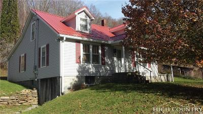 Ashe County, Avery County, Burke County, Alexander County, Caldwell County, Watauga County Single Family Home For Sale: 1068 Laurel Branch