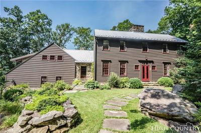 Watauga County Single Family Home For Sale: 527 Red Tailed Hawk Rd. (Valle Crucis)
