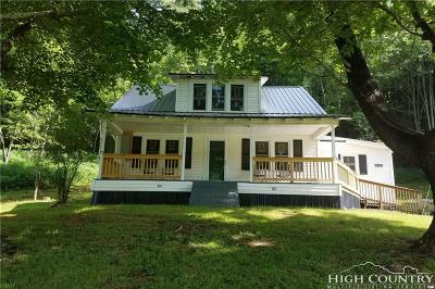 Caldwell County, Alexander County, Watauga County, Avery County, Ashe County, Burke County Single Family Home For Sale: 12184 Nc Highway 88 W