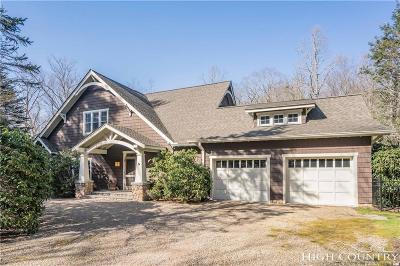 Blowing Rock Single Family Home For Sale: 375 New River Lake Drive