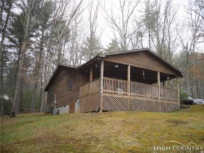 Ashe County Single Family Home For Sale: 163 Roans Creek Farm Road
