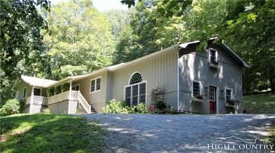 Watauga County Single Family Home For Sale: 136 Hidden Creek Road