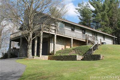 Ashe County Single Family Home For Sale: 5585 Old Hwy. 16