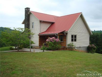Ashe County Single Family Home For Sale: 246 Laurel Winds Drive