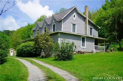 Ashe County, Avery County, Burke County, Alexander County, Caldwell County, Watauga County Single Family Home For Sale: 686 B H Duncan Road