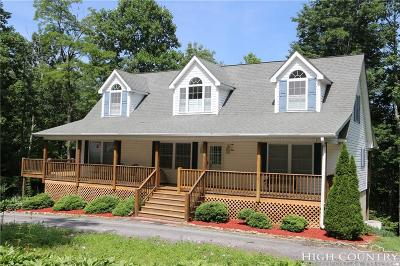 Ashe County Single Family Home For Sale: 3036 Little Windfall Road