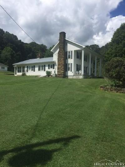 Ashe County Single Family Home For Sale: 170 Hardin Gilley Road
