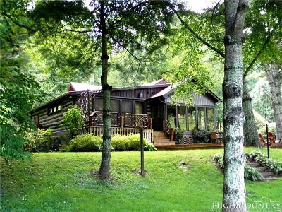 Ashe County Single Family Home For Sale: 759 New River Bend South Road
