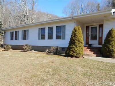 Ashe County Single Family Home For Sale: 300 Bronze Turkey Lane