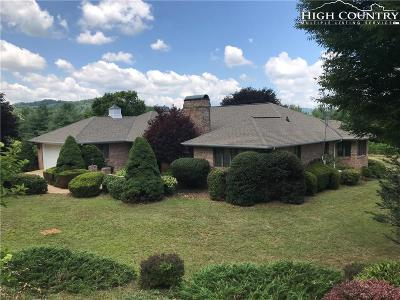 Ashe County Single Family Home For Sale: 264 John Halsey Road