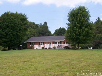 Ashe County Single Family Home For Sale: 222 Deer Creek Road