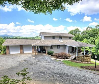 Ashe County Single Family Home For Sale: 518 W Reno Road