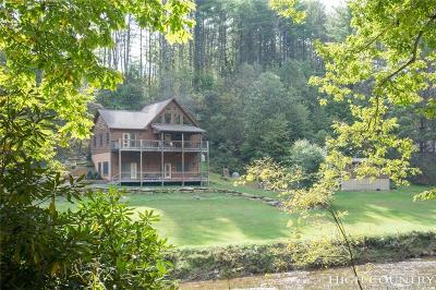 Ashe County Single Family Home For Sale: 651 Falls Lane