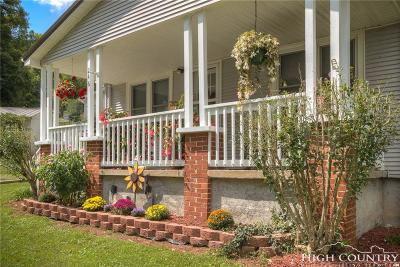 Caldwell County, Alexander County, Watauga County, Avery County, Ashe County, Burke County Single Family Home For Sale: 246 Wes Jones Road