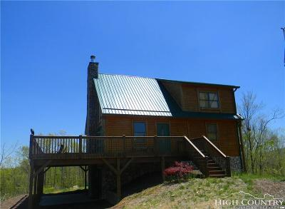 Ashe County Single Family Home For Sale: 1490 Rustic Road