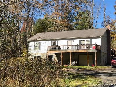 Ashe County Single Family Home For Sale: 1800 Big Flatts Church Roads