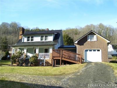 Caldwell County, Alexander County, Watauga County, Avery County, Ashe County, Burke County Single Family Home For Sale: 139 Northwest School Road