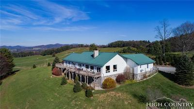 Ashe County Single Family Home For Sale: 840 & 492 Chenault Road