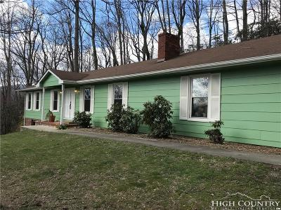 West Jefferson Single Family Home For Sale: 334 Mountain Valley Drive