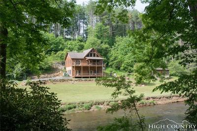 Ashe County Single Family Home For Sale: 651 Falls Lane