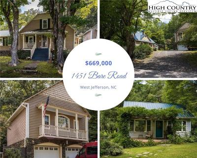 West Jefferson Single Family Home For Sale: 1451 Bare Road