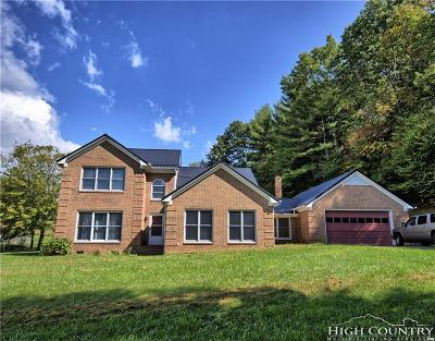 Ashe County Single Family Home For Sale: 366 Staggs Creek Road