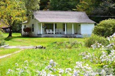 Alexander County, Caldwell County, Ashe County, Avery County, Watauga County, Burke County Single Family Home For Sale: 734 Flatwoods School Road