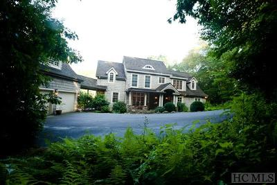 Cashiers, Glenville, Sapphire, Highlands, Scaly Mountain Single Family Home For Sale: 111 Upper Lake Road