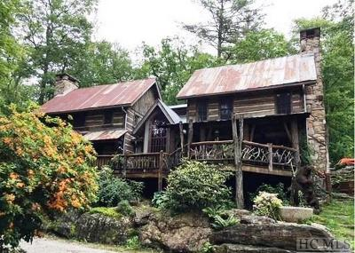 Cashiers, Glenville, Sapphire, Highlands, Scaly Mountain Single Family Home For Sale: 4343 Flat Mountain Road