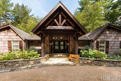 Cashiers, Glenville, Sapphire, Highlands, Scaly Mountain Single Family Home For Sale: 1331 Cherokee Trail