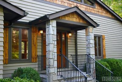 Lake Toxaway Single Family Home For Sale: 424 Cherokee Trace