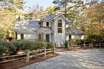 Cashiers Single Family Home For Sale: 1187 Wandering Ridge Drive