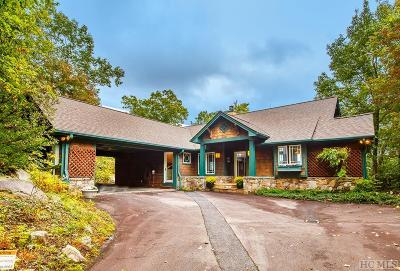 Lake Toxaway Single Family Home For Sale: 328 Toxaway Mountain Drive