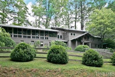 Highlands Cc Single Family Home For Sale: 1254 Cobb Road