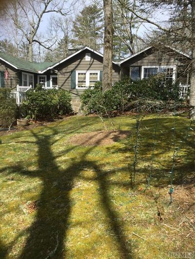 Highlands Cc Single Family Home For Sale: 1189 Dillard Road