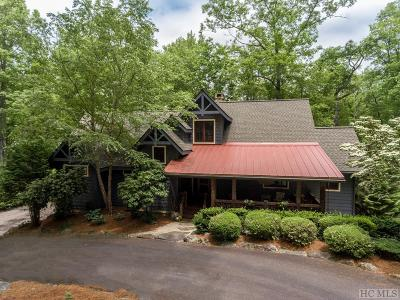Cashiers Single Family Home For Sale: 132 Still Water Road