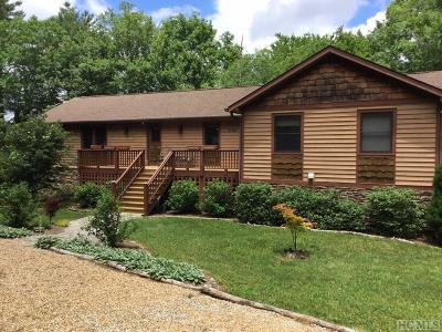 Cashiers Single Family Home For Sale: 2128 Yellow Mountain Road