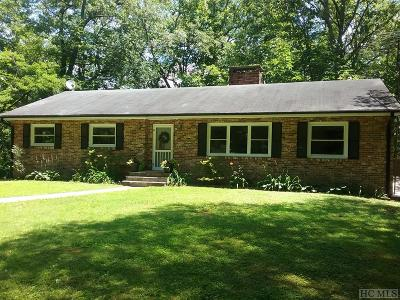 Single Family Home For Sale: 275 Holt Knob Road