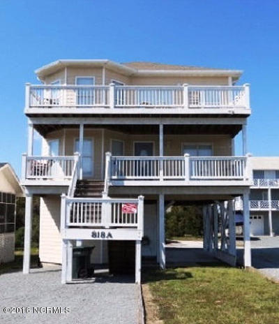 Topsail Beach Single Family Home For Sale: 818 A N Anderson Boulevard #A