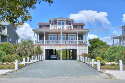 Holden Beach Single Family Home For Sale: 1250 Ocean Boulevard W