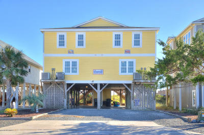 Holden Beach Single Family Home For Sale: 811 Ocean Boulevard W #1,  2